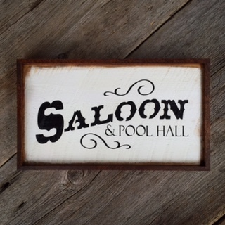 Western Saloon Sign, Saloon, Pool Hall, Western Home Decor, Bar Signs, Bar Decor, Western Signs for the Home, Outdoor Signs, Rustic Style, Crow Bar D'signs