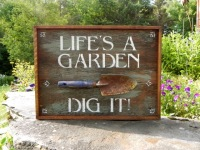 Garden Signs and Decor, Funny Sayings on Wood, Life Quotes, Quotes about Life, Garden Sayings, Decorative Wood Signs, Country Home Decor, Gift for Gardeners