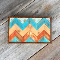 Chevron Design, Chevron Decor Ideas, Rustic Modern Wall Art, Decor for the Southwestern Home, Geometric Wall Art, Pieced Wood Wall Art, Handmade Wall Decor for the Home or Office, Boho Style and Decor, Bohemian, Woodcraft