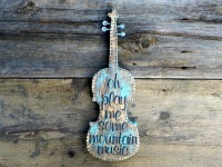 Fiddle, Music, Song Lyrics, Classic Country Song Lyrics, Music Decor, Country Living Decor, Rustic Style Home Decor, Handmade Wall Art, Fiddle Image, Stenciled Wood Signs, Oh Play Me Some Mountain Music