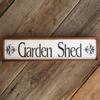 Garden Shed Sign, Signs for the Home and Garden, Wood Sign Ideas, French Country Decor, Wall Signs, Garden Decor Ideas