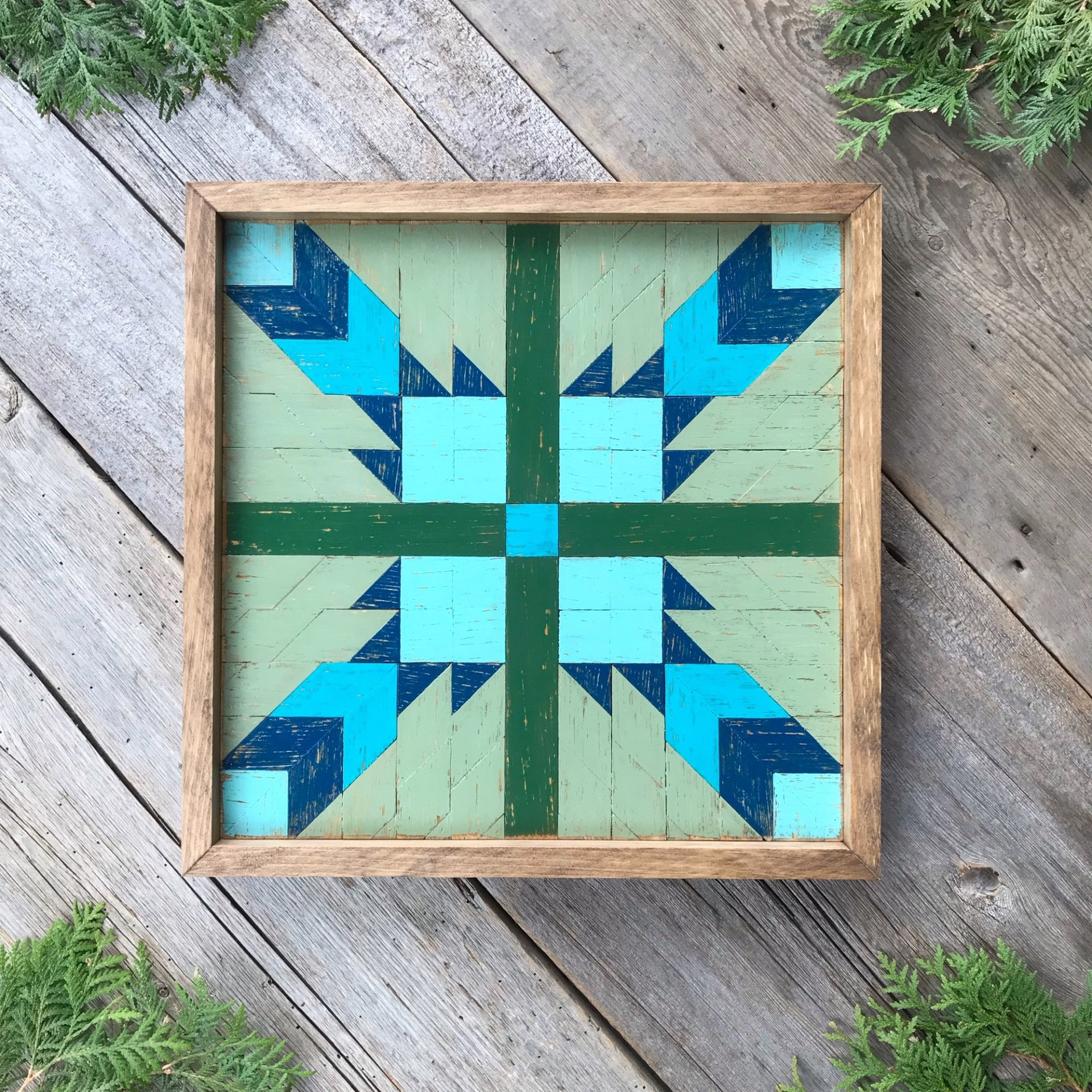 Barn Quilt, Wood Barn Quilts, Wood Wall Art, Bear Paw Quilt Square